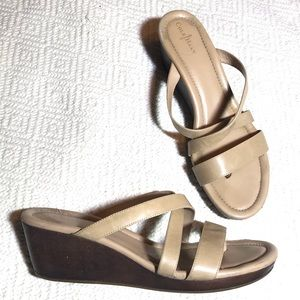 Cole Haan Nike Air Nude Leather Sandal Wedge 11
